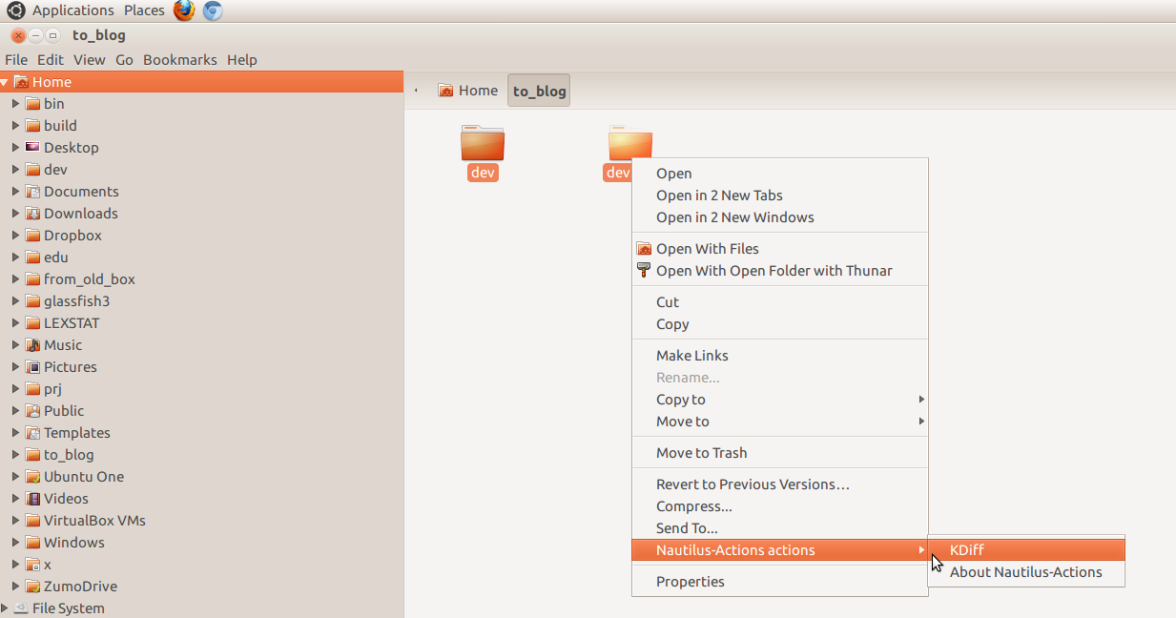Nautilus Context Menu